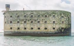 Fort Boyard in Atlantic ocean. Close up royalty free stock image