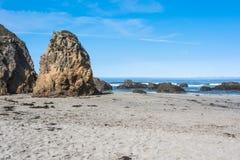 Fort Brag coast, California. Sand beach along Fort Bragg coast, California Stock Photography