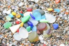 Free Fort Bragg California Sea Glass Rainbow Stock Photo - 166992820