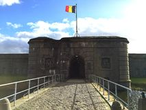 Fort Breendonk (Belgium). Fort Breendonk, a military fortification situated in Breendonk, near Mechelen, in Belgium. It is best known for its role as a Nazi Stock Image