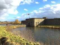 Fort Breendonk (Belgium). Fort Breendonk, a military fortification situated in Breendonk, near Mechelen, in Belgium. It is best known for its role as a Nazi Stock Images