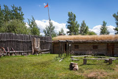 Fort Bridger. The reconstructed Fort Bridger, Wyoming Stock Photography