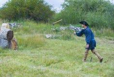 Fort Bridger Rendezvous 2014 Stock Foto