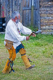 Fort Bridger Rendezvous 2014 Stock Afbeeldingen