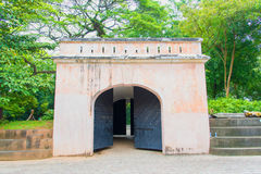 Fort Canning Gate. Is the remains of the old fort built on the top of the hill in middle of 19th century in Singapore Royalty Free Stock Photos