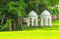 Fort Canning Park, Singapore. Park architecture in Fort Canning Park Singapore Stock Photo