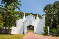 Fort Canning. Is a small hill slightly more than 60 metres high in the southeast portion of Singapore Stock Photos