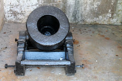 Fort cannon in room royalty free stock image