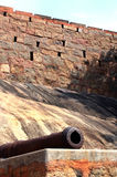 Fort cannon with wall Royalty Free Stock Photo