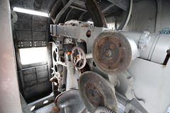 Fort cannons. Image of the fort Cannons in decommissioned Ship. Moored at Naval Base Fort King Chulalongkorn in Samut PraKan, Thailand stock photo