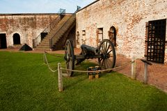 Fort and canon. Old historic fort and canon Stock Photos