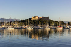 Fort Carre in Antibes in France stock photography