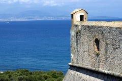 Fort carre, Antibes, französischer Riviera Lizenzfreie Stockfotografie
