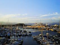 Fort Carre et coucher du soleil de port Images libres de droits