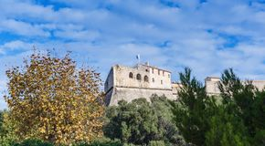 Fort Carre walls in Antibes royalty free stock photo