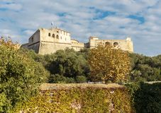 Fort Carre walls in Antibes royalty free stock photos