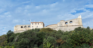 Fort Carre walls in Antibes stock photography