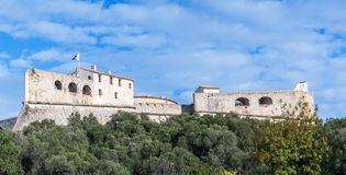 Fort Carre walls in Antibes royalty free stock photography