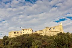 Fort Carre walls in Antibes royalty free stock image