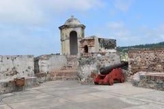 Fort in Cartagena, Colombia Stock Afbeeldingen