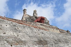 Fort in Cartagena, Colombia. Historic fort constructed by the Spaniards in Cartagena, Colombia Stock Images