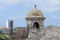 Fort in Cartagena, Colombia. Historic fort constructed by the Spaniards in Cartagena, Colombia Royalty Free Stock Image