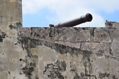 Fort in Cartagena, Colombia. Historic fort constructed by the Spaniards in Cartagena, Colombia Stock Photo