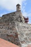 Fort in Cartagena, Colombia. Historic fort constructed by the Spaniards in Cartagena, Colombia Stock Photography