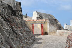 Fort in Cartagena, Colombia. Historic fort constructed by the Spaniards in Cartagena, Colombia Stock Image