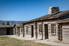 Fort Casper. Part of the reconstructed Fort Casper, Wyoming stock image