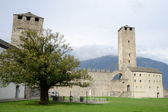 The Fort of Castelgrande at Bellinzona on the Swiss alps Stock Images