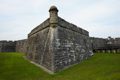 Fort Castillo de San Marcos. In St. Augustine, Florida - A Popular Tourist Attraction stock photos