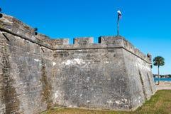 Fort Castillo de San Marcos, St Augustine, Florida, USA fotografering för bildbyråer