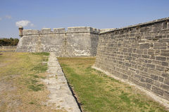 Fort Castillo in St. Augustine, Florida Stock Image