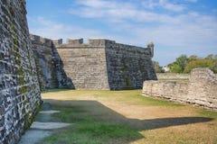 Fort Castillo, St Augustine, Florida Arkivfoto