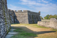 Fort Castillo, St. Augustine, Florida. The Back Of Fort Castillo in St. Augustine, Florida Stock Photo