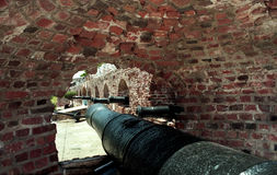 Fort Charles cannon port Stock Photos