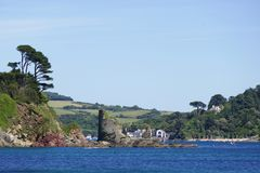 Fort Charles, Salcombe, Devon,. Salcombe Castle or Fort Charles is a ruined fortification just off the beach of North Sands in Salcombe, Devon, England stock images