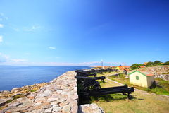 Fort Christiansoe island Bornholm Denmark. Fort Christiansoe island Bornholm in the Baltic Sea Denmark Scandinavia Europe royalty free stock images