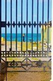 Fort christiansted st croix usvi waterfront fence Stock Photos