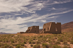Fort Churchill Ruins. This is a picture of some of the ruins of old Fort Churchill from the state park in central Nevada royalty free stock images