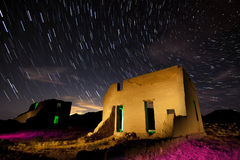 Fort Churchill Star Trails. Star Trail shot at the historic military Fort Churchill in the Nevada Desert Stock Images