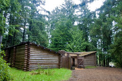 Fort Clatsop rainy day Stock Photos