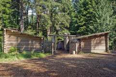 Fort Clatsop Restoration Royalty Free Stock Photo