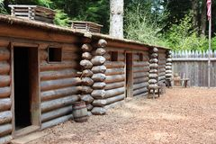 Fort Clatsop. Where Lewis and Clark wintered Stock Photo