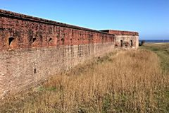 Fort Clinch. Outside Fort Clinch in Fernandina Beach, Florida Royalty Free Stock Images