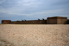 Fort Clinch State Park. Fort Clinch stands guard over the St. Mary's River, Florida Royalty Free Stock Images