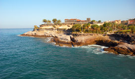 Fort on the coast of Tenerife Island. Royalty Free Stock Photos