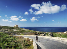 Fort and coast view of gozo island in malta Stock Photography