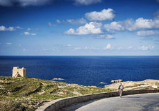 Fort and coast view of gozo island in malta Stock Photos